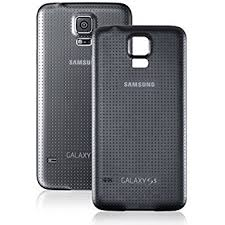 samsung galaxy s5 white used. oem samsung galaxy s5 sm-g900 battery door back cover replacement - charcoal black ( white used