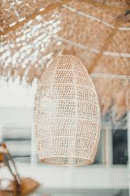Gehaakte Raffia Lamp Marokko Fles Naturel Noa May