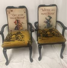 alice in wonderland furniture. Housewarming Gift/ Alice In Wonderland Furniture/ High Backed Chair/ Alternative Home Decor/ Handmade/ Gifts For Her/ Furnishings Furniture A
