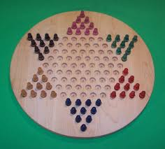 charlies wood w 1931 5 peg 18 in circle chinese checkers wooden peg game board