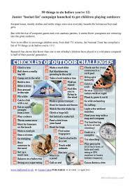 Bucket List For 12 Year Olds Worksheet Free Esl Printable