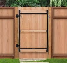 wood fence gate. Image Is Loading Wood-Fence-Gate-Kit-Steel-Frame-No-Sag- Wood Fence Gate