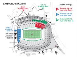 Uga Stadium Chart Measures Taken To Control Student Crowds At Sanford Stadium