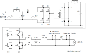 grid tie inverter schematic and principals of operation a schematic of grid tie inverter