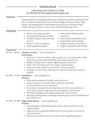 resume for restaurant restaurant resume objectives mollysherman