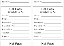 School Hall Pass Template School Hall Pass Templates Bus Template Best Of Sample