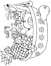 Small Picture Fruit basket coloring page 1 Coloring Pages