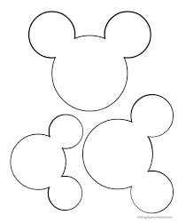 Mickey Head Template Disney Crafts Diy Clothing Printables