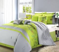 lime green bedding grey and lime green bedding sets designs in black comforter decorations