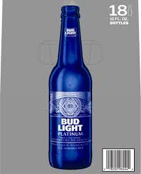 Calories In Bud Light Platinum Bottle Bud Light Platinum Beer 18 Pack 12 Fl Oz Bottles