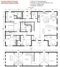 barn homes floor plans. 40x60 Floor Plan Pre-designed Great Plains Western Horse Barn Home Kit Image Homes Plans