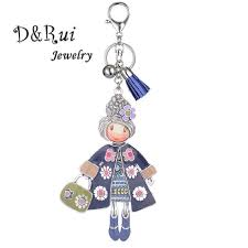 Online Shop Enamel Zinc Alloy Key Chain for Women&Girl Leather ...