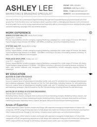Mac Resume Templates Stunning Resume Template Mac Resume Templates Design Cover Letter Job