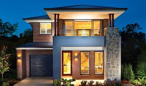 narrow lot house plans modern style design colors with front garage best