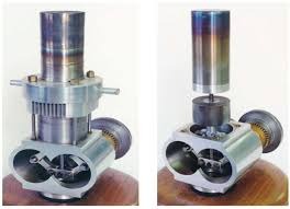 a beta stirling engine with a rhombic drive configuration