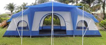 Multiple Room Tents Deluxe 4 Room Cabin Tent 24x10 Large Camping Tent Sleeps 12 16