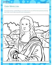Mona Lisa Coloring Page Pdf Pages Cars Colouring Free Printable