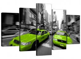 >modern canvas prints of white orchids for your living room lime green grey new york taxi cab cityscape xl canvas 5 piece 160cm