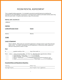Room Rental Contract Simple Month To Rental Agreement Template Business Uk