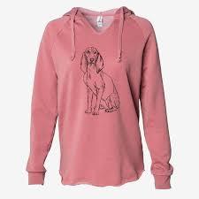 Doodled Eleanor the Italian Segugio - Cali Wave Hooded Sweatshirt ...