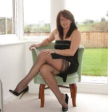 Mature nylons and heels