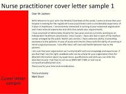 Sample Cover Letter For Nurse Practitioner Resume Professional
