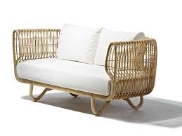 2 seater rattan sofa nest sofa cane line