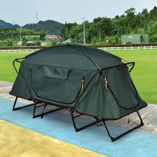 Folding Tent Costway Costway Hiking Outdoor Folding 1 Person Waterproof Elevated