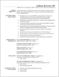 Rn Resumeamplesample Objectives For Case Manager Medurg New Grad