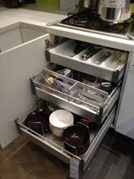 Smart Kitchen Kitchen Smart Kitchen Storage Ideas With Stainless Steel Pull Out