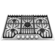 30 gas cooktop. Frigidaire Professional 30 Inch Gas Cooktop With Griddle In Stainless Steel FPGC3077RS