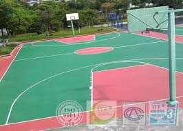 non toxic fadeless sport court surface outdoor rubber flooring for basketball court