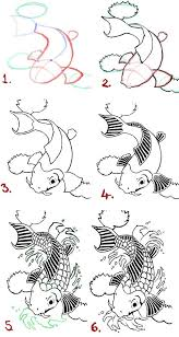 koi fish drawing step by step. Unique Step Koi Fish Drawing Steps By WenWeCollide On DeviantART On Fish Drawing Step By