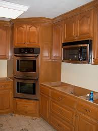 birch kitchen wall cabinet corner