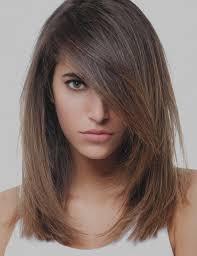 Images Coupe De Cheveux Femme Mi Long Degrade Avec Frange