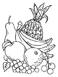 Printable Fruits And Vegetables Coloring Pages Fruit Vegetable
