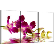 display gallery item 5 3 panel floral canvas prints orchids 3021 display gallery item 6 on orchid canvas wall art with orchids canvas wall art set of 3 for your living room