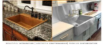 top mount sink on granite improbable sinks copper stainless usa havens metal interior design 16