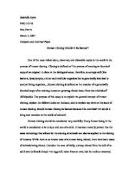 essays about cloning humans  cloning essays and papers 123helpme com