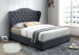 Grey Tufted Bed Grey Upholstered Bed Frame With Storage ...