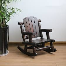 Childs Adirondack Rocking Chair Outdoor Patio Wood Bench Chair