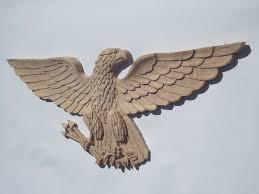 wood eagle wall art