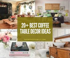 Modern home decor, farmhouse coffee table decorations, wooden tealight votive, indigo gift gftwoodcraft 4.5 out of 5 stars (2,843) $ 26.00. 25 Best Coffee Table Decor Ideas Designs Modern Round For 2021