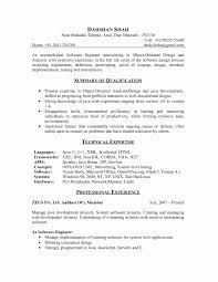 Sample Resume Format For Experienced Software Engineer Resume