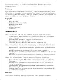 project scheduler resumes project scheduler sample resume shalomhouse us