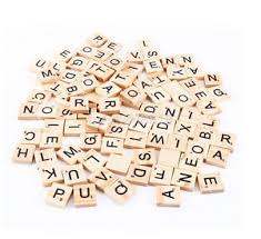 Wooden Board Games Canada 100pc Wooden Scrabble Tiles Letters Craft Alphabet Board Game Fun 55