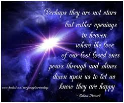 Quotes About Lost Loved Ones In Heaven Interesting Quotes About Lost Ones Perhaps They Are Not Stars But Openings In