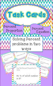 percent proportion percent equation just got easier with these task cards students gain confidence
