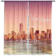 matching new york city skyline window panels curtains