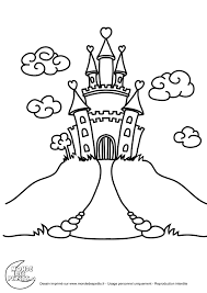 Coloriage Chateau Princesse Coloriage Chateau Princesse L